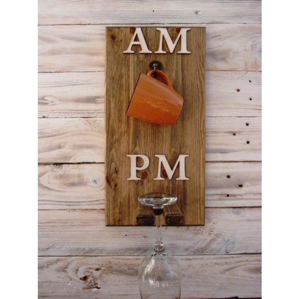 AMPM fali pohártartó boros pohárral és választható bögrével