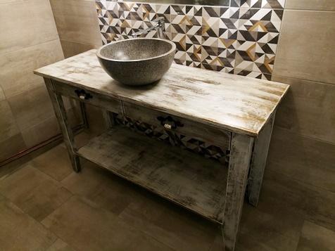 tömörfa mosdóasztal